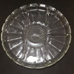 Sectioned 4pc, serving dish